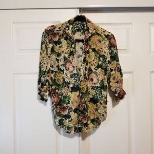 Zara fall type blouse